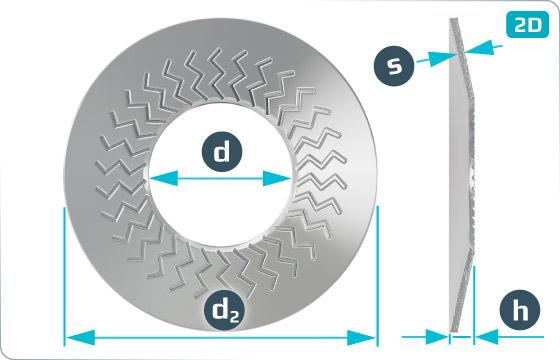Pojistné kroužky kontaktní TECKENTRUP střední (tvar M) - M