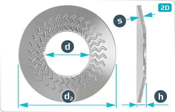 Pojistné kroužky kontaktní TECKENTRUP (tvar Z) - Z