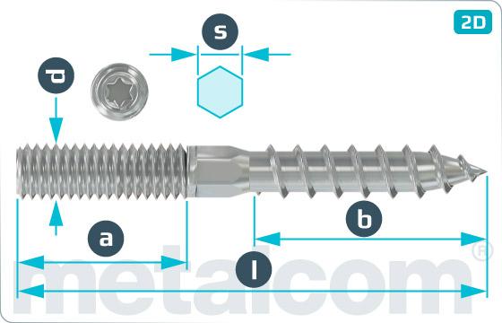 Vruty kombinované do dřeva a do kovu s šestihranným dříkem a TORX drážkou - 6kt-TX