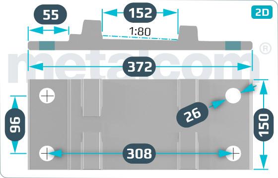 Unterlagsplatten Übergangsunterlagsplatte R65 - V3-6652/1
