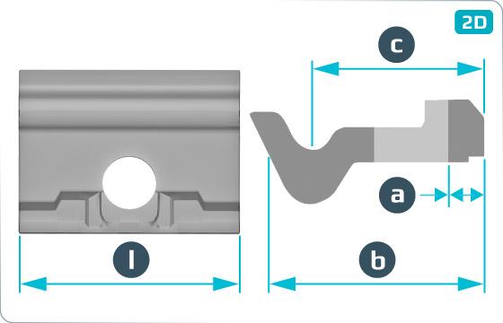 Vložky vodící úhlové (Vossloh) - Wfp14K