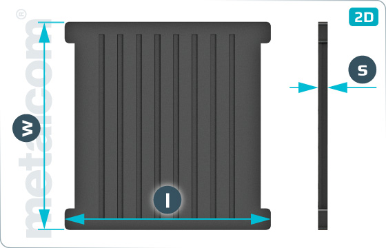 Podložky pryžové pod patu kolejnice UIC60 (Vossloh) - WS7