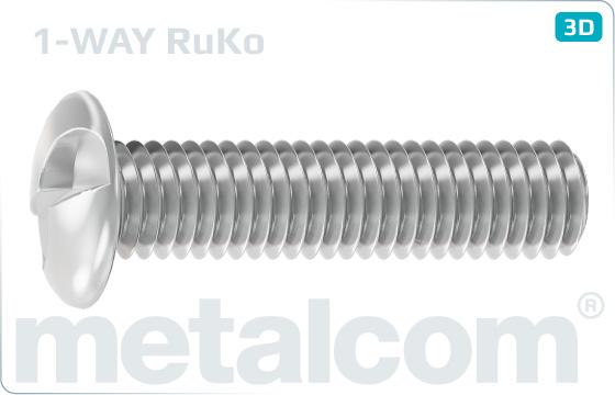 Śruby zabezpeczające z łbem półkulistym jednorazowego użytku