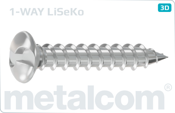 Security screws tapping one way oval countersunk head screws