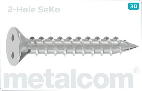 Śruby zabezpeczające do blachy z łbem stożkowym i 2 otworami - SeKo