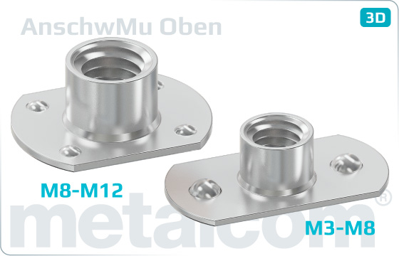 Miscellaneous nuts weld nuts with embossments up