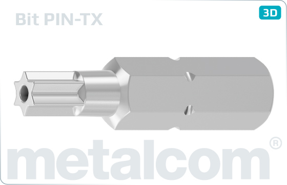Bity bezpečnostné TORX - PIN-TX