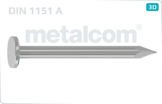 Hřebíky s plochou hlavou stavební - DIN 1151 A
