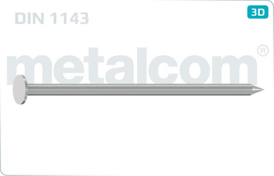 Gwoździe do zbijania maszynowego - DIN 1143
