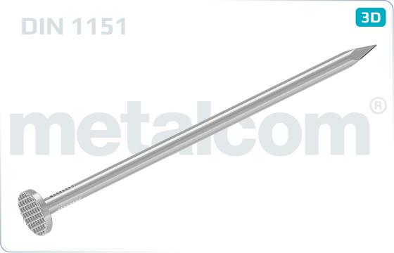 Gwoździe karbowaną dla budownictwa - DIN 1151