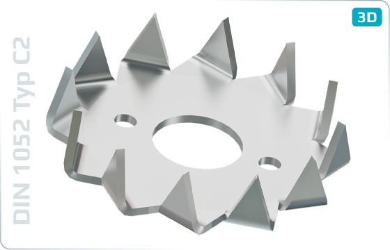 Siecherungsscheiben Holzverbinder typ C2 (Bulldog) - DIN 1052