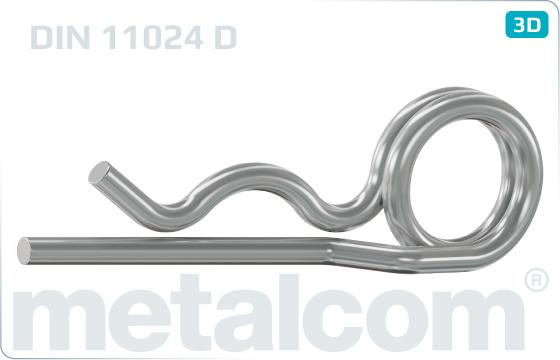 Závlačky pružné dvojité - DIN 11024 D