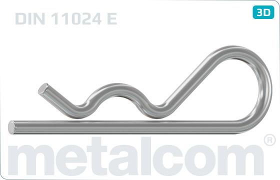 Závlačky pružné jednoduché - DIN 11024 E