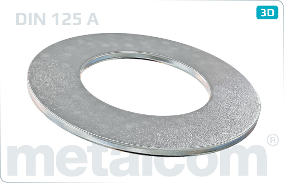 Plain washers for hexagon head bolts and nuts - DIN 125 A