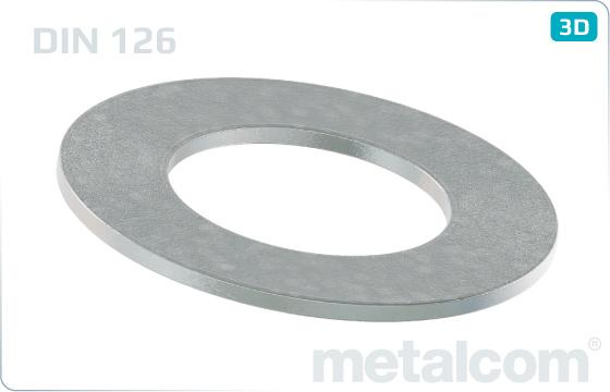 Podkładki płaskie zgrubne - DIN 126