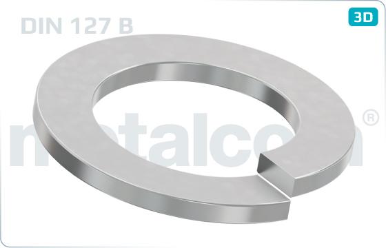 Podložky pružné s obdélníkovým průřezem (rovné konce) - DIN 127 B