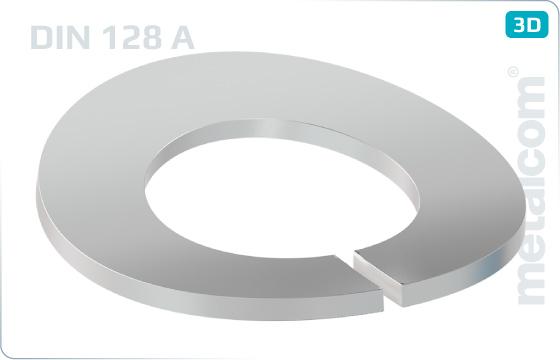 Podložky pružné prohnuté - DIN 128 A