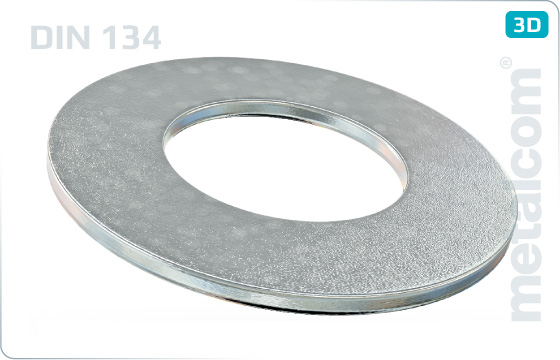 Plain washers for hexagon head bolts and nuts - DIN 134