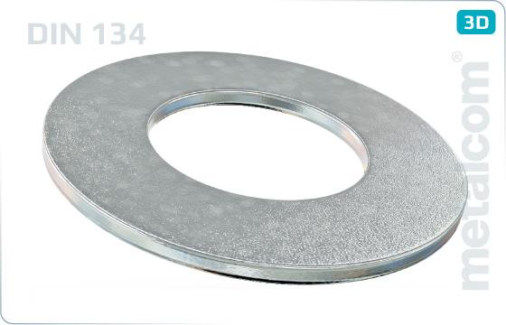 Podložky ploché pro šrouby se šestihrannou hlavou - DIN 134