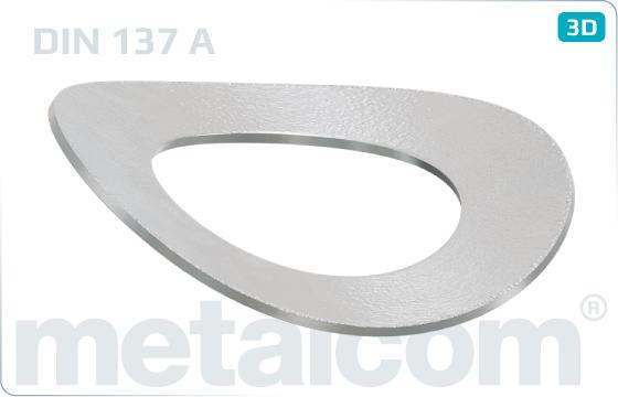 Podložky pružné prohnuté - DIN 137 A