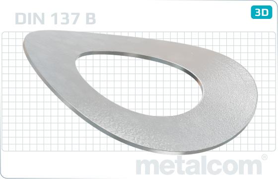 Podložky pružné zvlněné - DIN 137 B