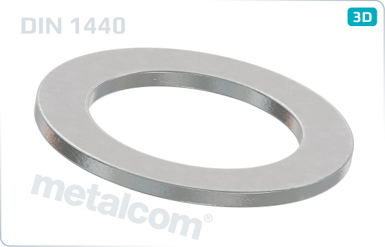 Plain washers for clevis pins, finish medium - DIN 1440