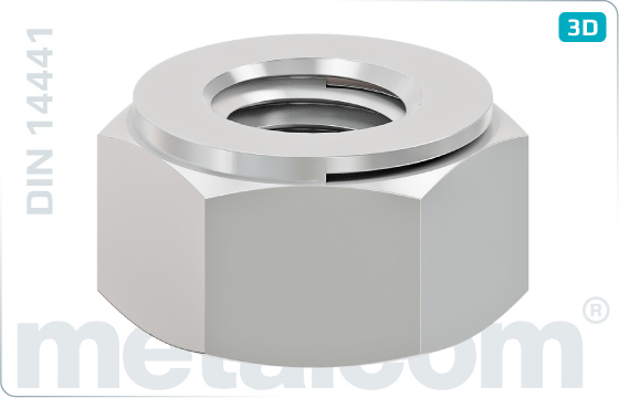 Hexagon nuts prevailing torque type, all-metal (Thermag) - DIN 14441