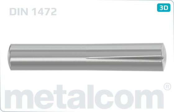 Kolíky rýhované lícované - DIN 1472
