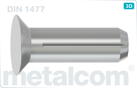 Grooved pins countersunk head - DIN 1477