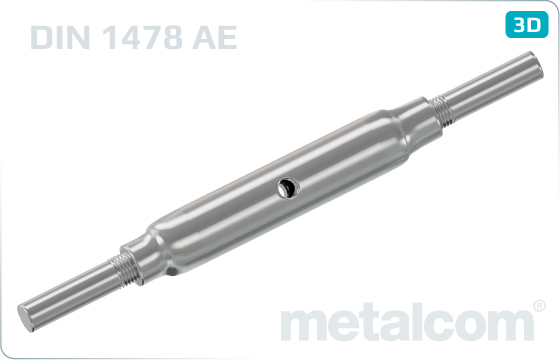 Turnbuckles with 2 studs for welding (made out of pipes) - DIN 1478