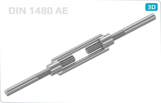 Napínače s rovným koncem - DIN 1480 AE