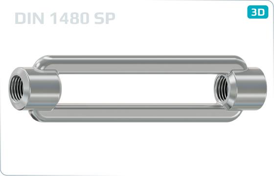 Napínače matice pro napínače - DIN 1480 SP