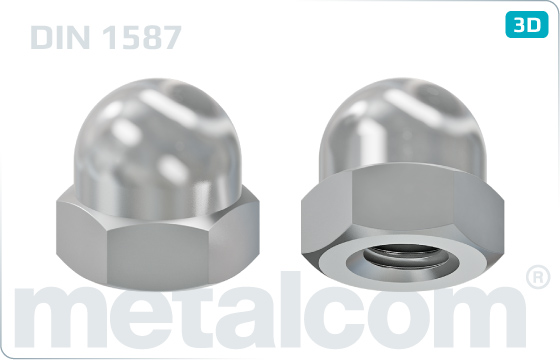 Cap nuts hexagon, domed - DIN 1587
