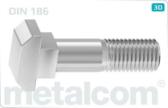T-head bolts square neck - DIN 186