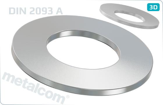 Podložky pružné talířové pružiny (tvar A) - DIN 2093 A