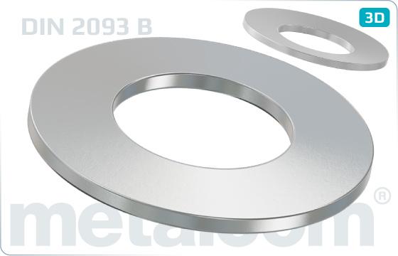 Federscheiben Tellerfedern ( Form B ) - DIN 2093 B