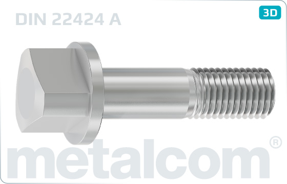 Miscellaneous screws Triangle head bolts - DIN 22424 A