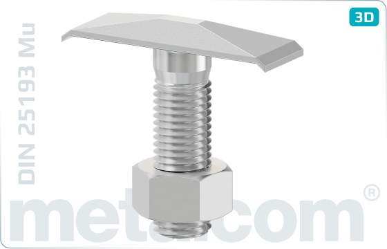 T-head bolts anchor bolts - DIN 25193 Mu