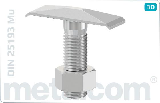 Šrouby s T hlavou svěrkové - DIN 25193 Mu