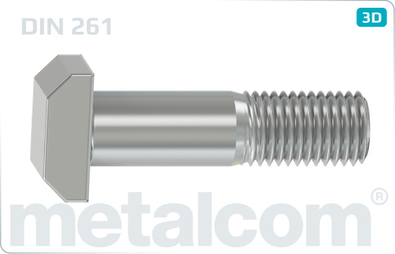 T-head bolts normal - DIN 261