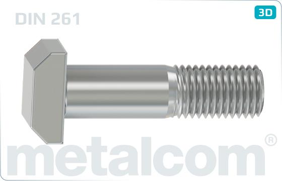 Śruby teowe standardowe - DIN 261