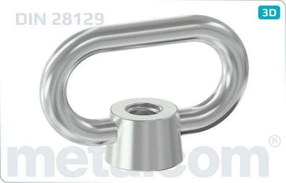 Lifting nuts arched - DIN 28129
