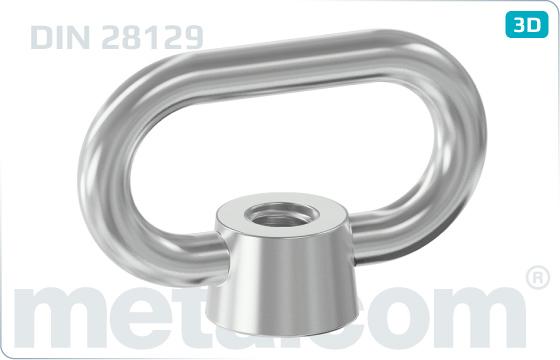 Nakrętki podnośnikowe łukowe - DIN 28129
