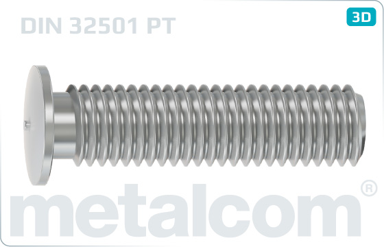 Stifte mit Kopf Scweißbolzen mit Außengewinde - DIN 32501 PT