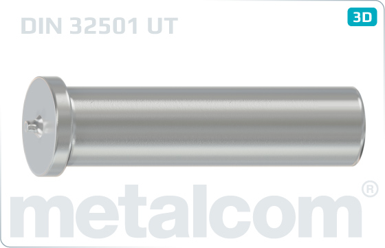 Kolíky s hlavou přivařovací bez závitu - DIN 32501 UT