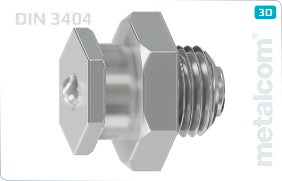 Hexagon lubricating nipples, button head - DIN 3404