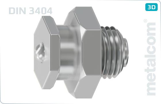 Śruby z łbem sześciokątnym głowice smarownicze płaskie - DIN 3404