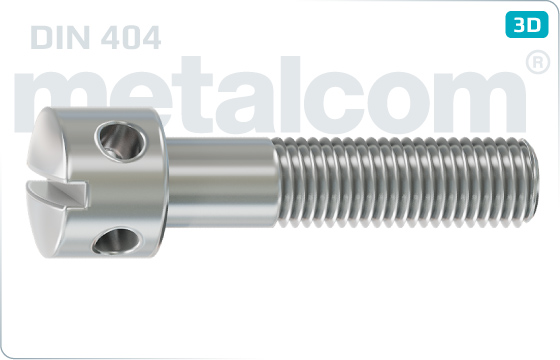 Śruby z nacięciem prostym z otworami w łbie - DIN 404