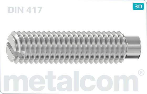 Set screws slotted with full dog point - DIN 417