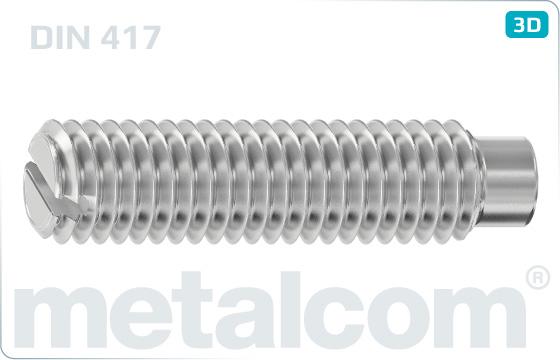 Wkręty dociskowe z rowkiem i czopem cylindrycznym - DIN 417